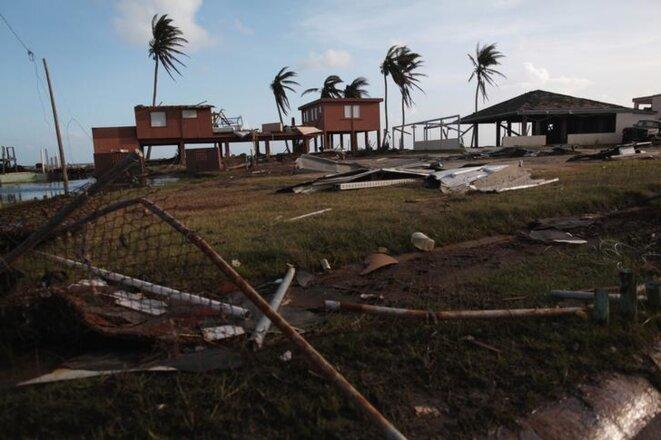 Après le passage de l'ouragan Maria, à Porto Rico, en septembre 2017. © Reuters