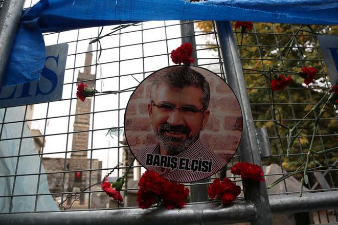 La commémoration des deux ans du meurtre de Tahir Elçi, le 28 novembre 2017 à Diyarbakir (Turquie). © Reuters