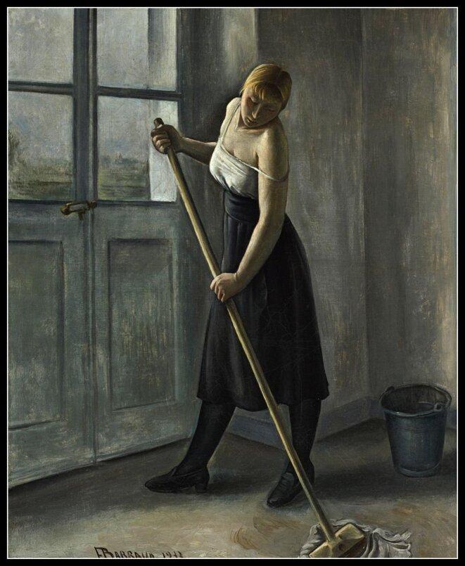 La femme de ménage © François Barraud (1899-1934)