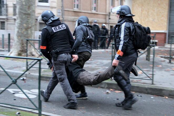 Samedi 2 février à Toulouse, lors de l'acte XII des « gilets jaunes ». © ER