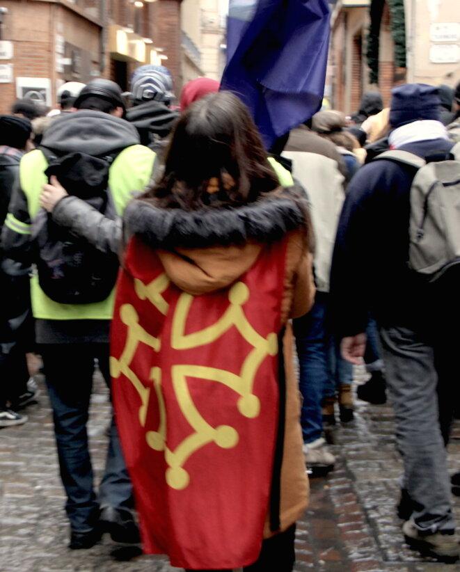 Samedi 2 février à Toulouse, lors de l'acte XII des gilets jaunes. © MR