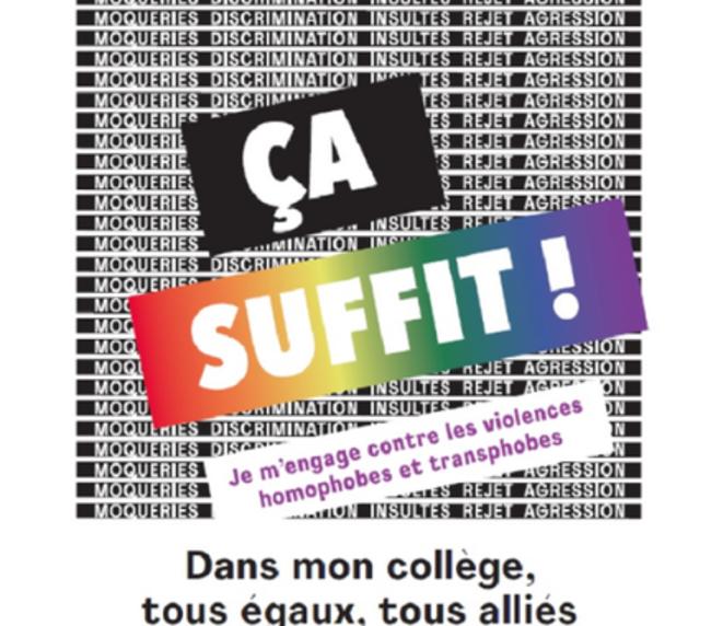 Campagne de prévention des LGBT-phobies à l'école Janvier 2019
