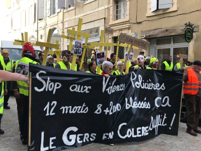300 manifestants Gilets jaunes le 9 février à Auch [Photo YF]