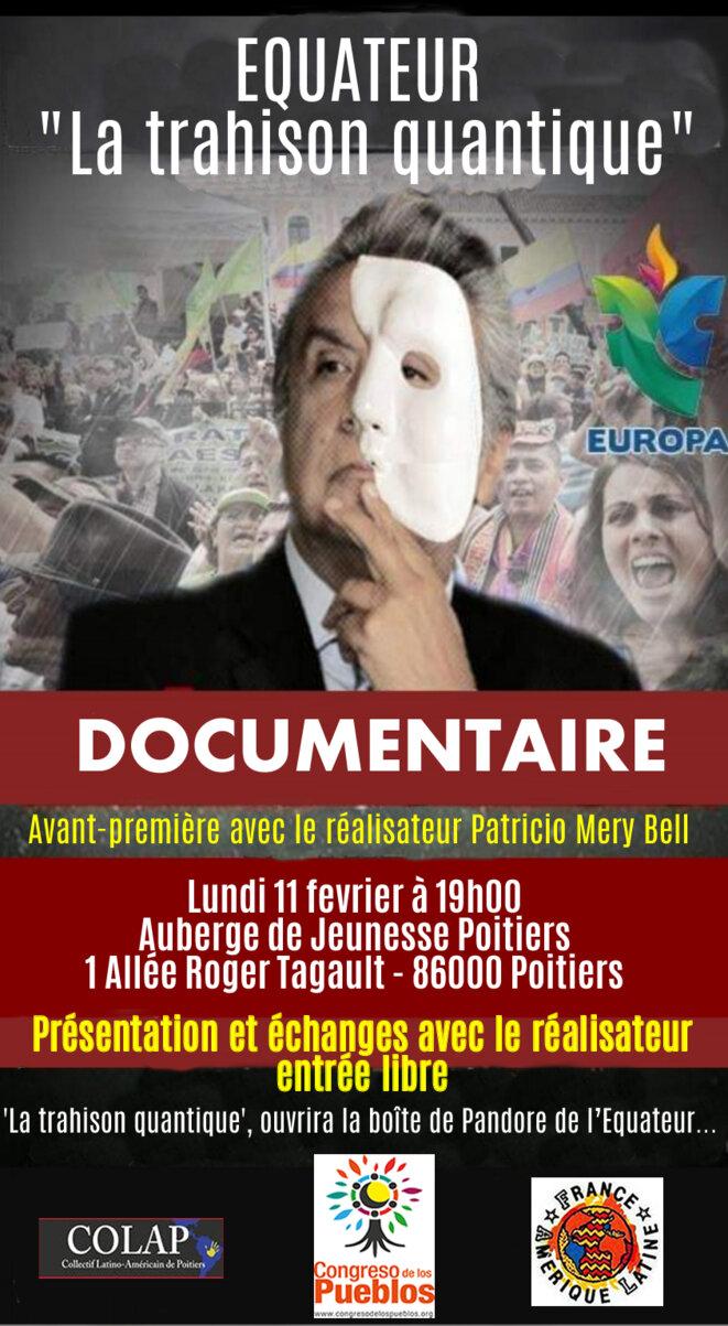 Invitation à la projection en avant-première du documentaire sur l'Equateur « La trahison quantique »