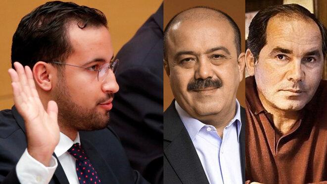 Alexandre Benalla et les oligarques Iskander Makhmudov et Farkhad Akhmedov. © DR