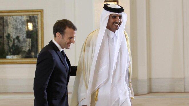 Macron avec l'Emir du Qatar