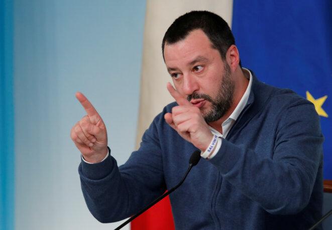 Matteo Salvini, vainqueur du scrutin des Abruzzes, ici le 14 janvier 2019 à Rome. © Reuters/Remo Casilli