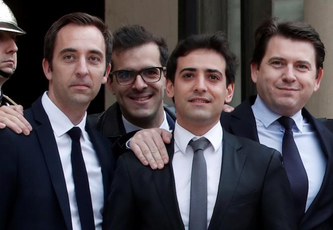 Jean-Marie Girier, Ismaël Emelien, Stéphane Séjourné et Sylvain Fort ont tous quitté leurs fonctions. © Reuters