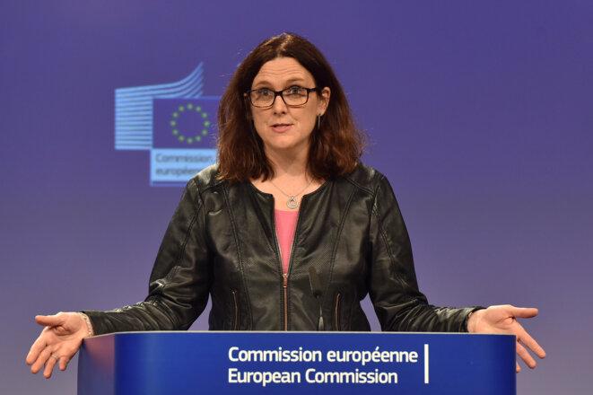 La commissaire au commerce Cecilia Malmström, le 7 mars 2018 à Bruxelles. © Reuters/Éric Vidal