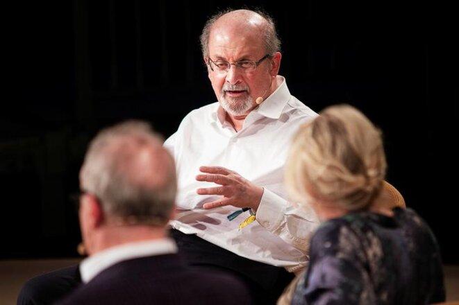 Salman Rushdie, lors d'un entretien au Danemark, le 2 juin 2018. © Reuters