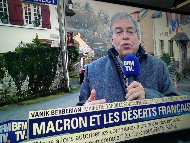 Vanik Berberian sur BFMTV - Photo Nicolas V