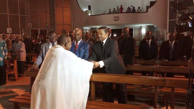 Cathédrale Saint Pierre de Libreville : L'opposant et président de la Coalition pour la nouvelle République (CNR), M. Jean Ping