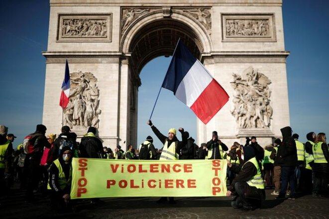 Manifestation des gilets jaunes à Paris le 16 février 2019. © REUTERS/Benoit Tessier