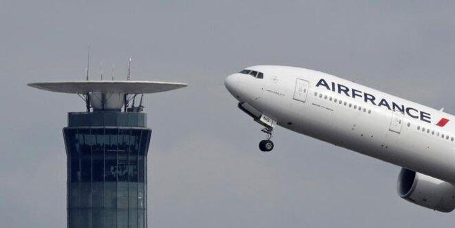Un Boeing d'Air France décolle de l'aéroport de Roissy en 2017. © Reuters