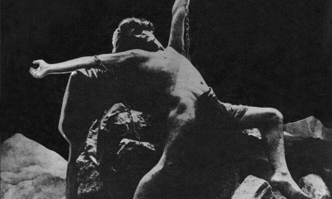 Édouard de Max dans « Prométhée » de Jean Lorrain, à Béziers en 1900. © DR