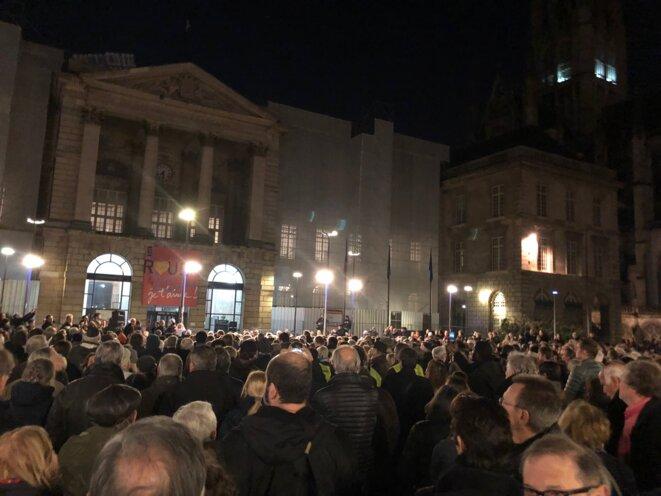 Le rassemblement contre l'antisémitisme à Rouen © David Verdier
