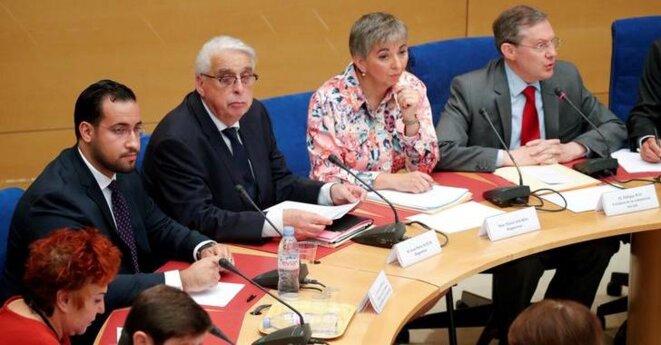 Alexandre Benalla devant la commission d'enquête du Sénat, le 19 septembre 2018. © Reuters