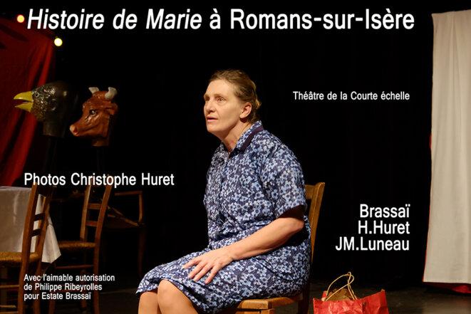 Hélène Huret est Marie à Romans-sur-Isère © Photo : Christophe Huret