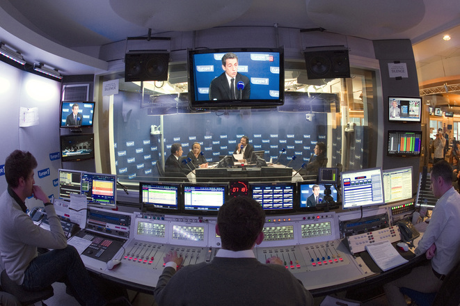 Europe 1's studios on March 14th 2012. © Reuters