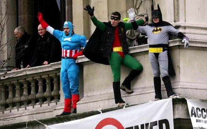 Le mouvement des « Pères pour la justice » en 2005 à Londres. © Reuters