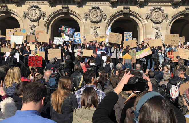 Mobilisation des jeunes pour le climat le 22 février à Paris. © CG