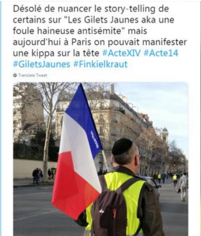france-info-gilet-jaune-kippa-tweet