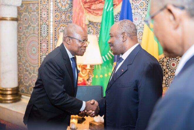 Le président Ali Bongo Ondimba et M. Faustin Boukoubi, le nouveau président de l'Assemblée nationale du Gabon