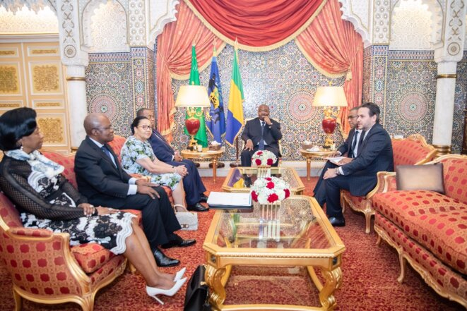 La photo de famille, S.E. Ali Bongo Ondimba et les responsables des institutions