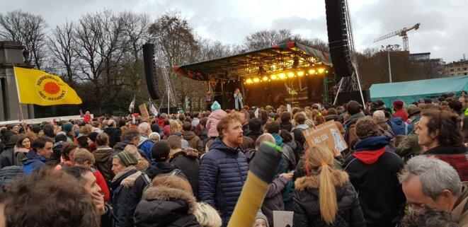 Marche des jeunes pour le climat à Bruxelles, 2 décembre 2018 © Benjamin Joyeux