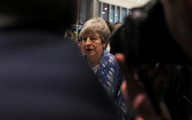 Theresa May le 24 février 2019 à son arrivée en Égypte. © Reuters / Mohamed Abd El Ghany.