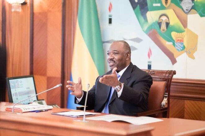 Ali Bongo Ondimba, photo prise lors du conseil des ministres du 26 Février 2019