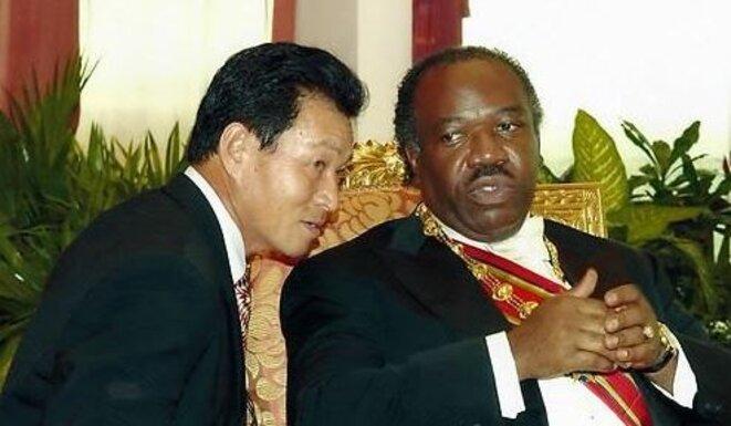 Park-Sang -Chul et M. Ali Bongo Ondimba