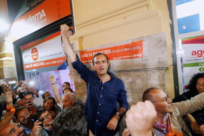 Luigi de Magistris, le 20 juin 2016, lors de sa réélection à la tête de Naples. © Reuters / Ciro De Luca.