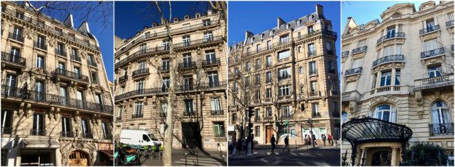 Quelques immeubles où le clan Guelleh aurait investi ces dernières années. © M.D.
