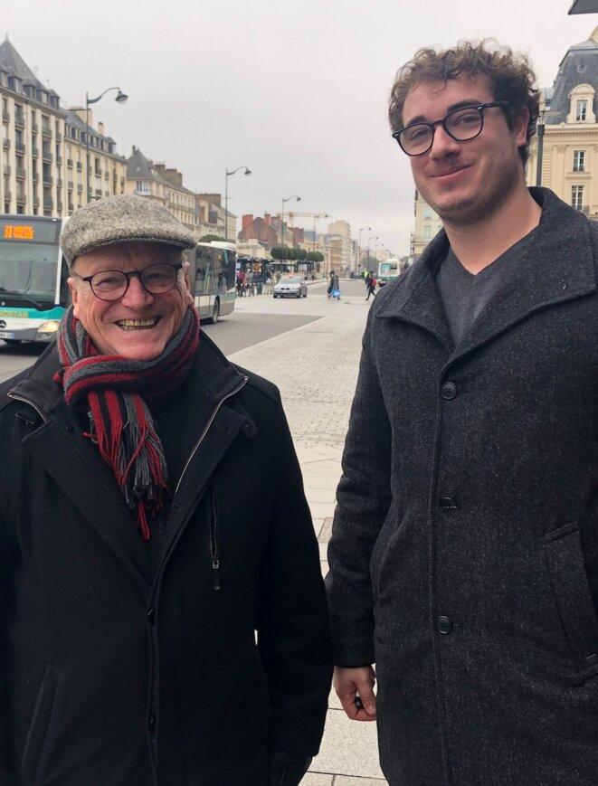 Yves Juin et Félix Boullanger. © ES