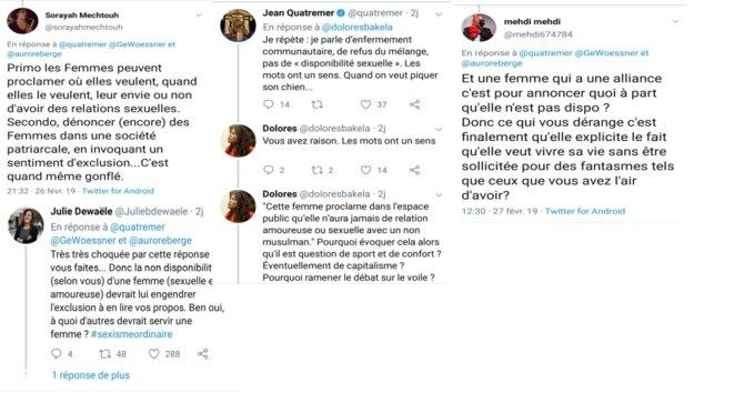 captures d'écran des tweets du 26 février 2019