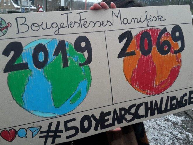 Les manifestations d'élèves pour le climat ne faiblissent pas en Belgique © G.L.