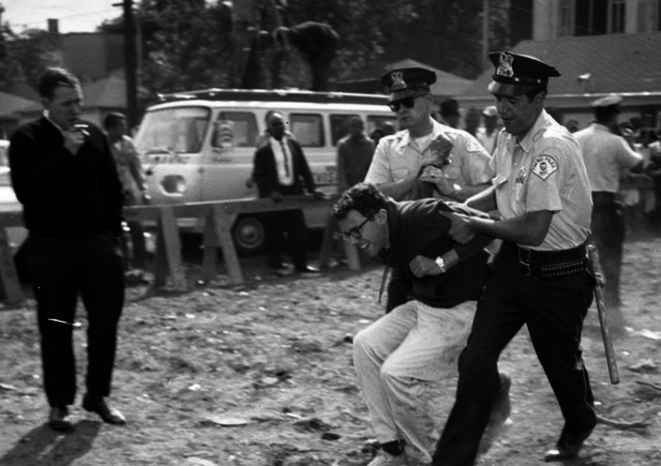 1963. A Young Bernie Sanders Is Being Arrested At A Protest in Chicago. © Chicago Tribune