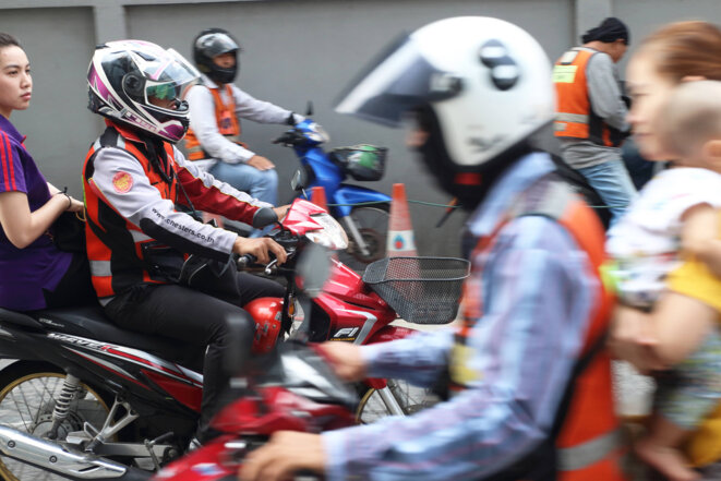 Une station de moto-taxi à l'est de Bangkok © Tom Vater