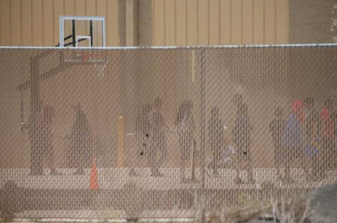 Enfants mineurs détenus à la Casa Padre, à Brownsville (Texas). Ici, en juin 2018. © Reuters