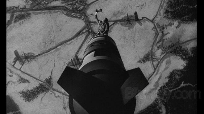 Docteur Folamour, image extraite du film de Stanley Kubrick.