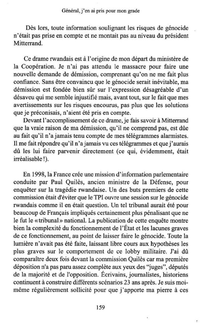 Général, j'en ai pris pour mon grade extrait page 159 © Jean Varret