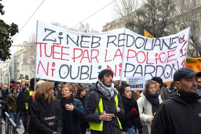 Marche « pour le logement et le droit à la ville » le 2 février 2019 à Marseille. © LF