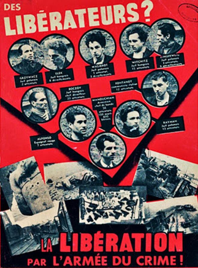 Affiche Rouge - Propagande nazie contre la Résistance (groupe Manouchian).