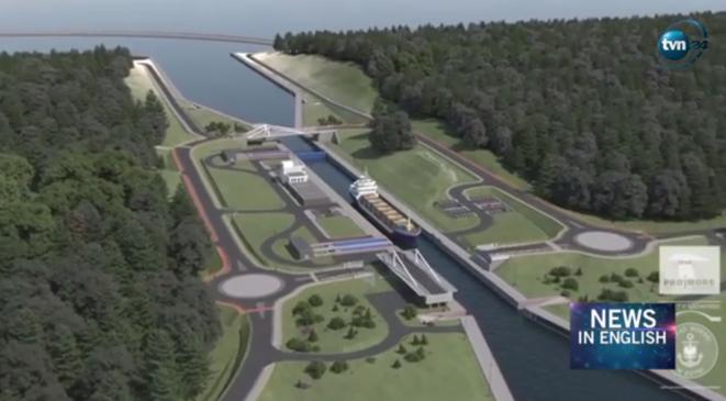 Image de synthèse du projet de canal © Via TNV 24