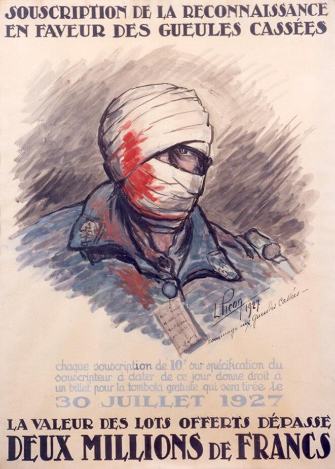 Affiche pour la 1re souscription des Gueules cassées en 1927 © Coll. Fondation des Gueules cassées
