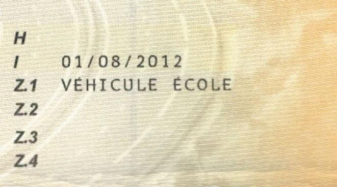 """Mention """"Véhicule Ecole"""""""