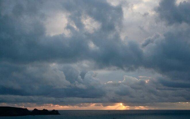 Nuit d'orage sur la mer d'Iroise © Patrice Morel (janvier 2019)
