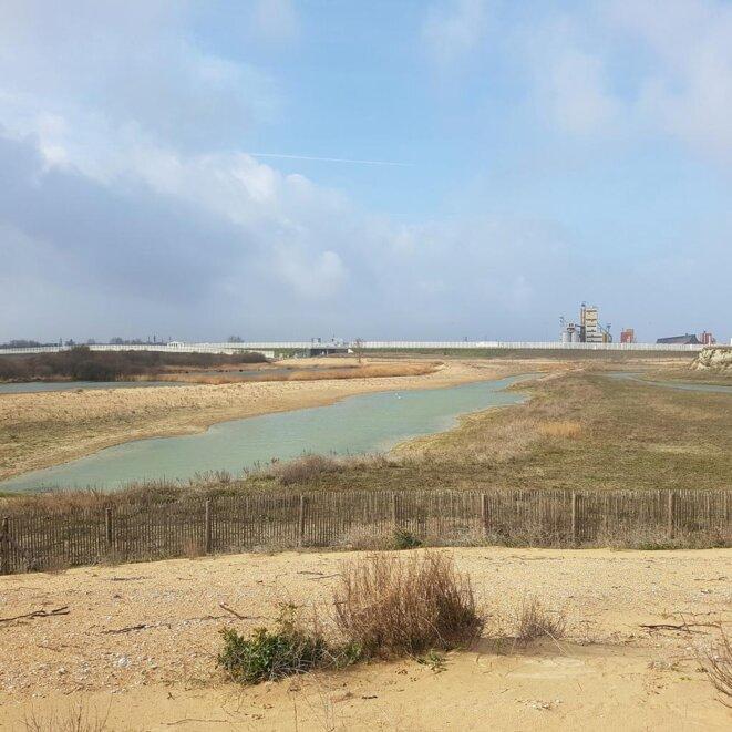 Calais, site de la lande. Mars 2019. © Evangeline MD