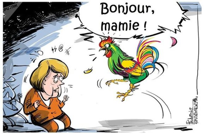 dessin-macron-coq-et-merkel